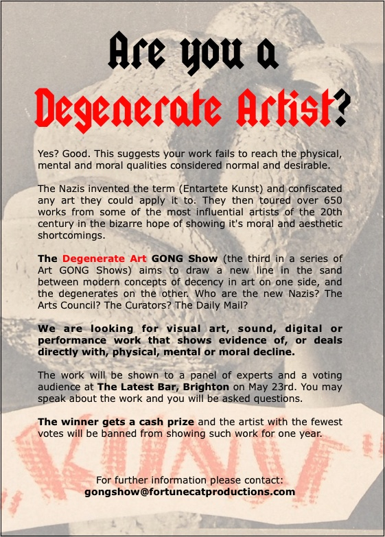 Are you a Degenerate Artist?